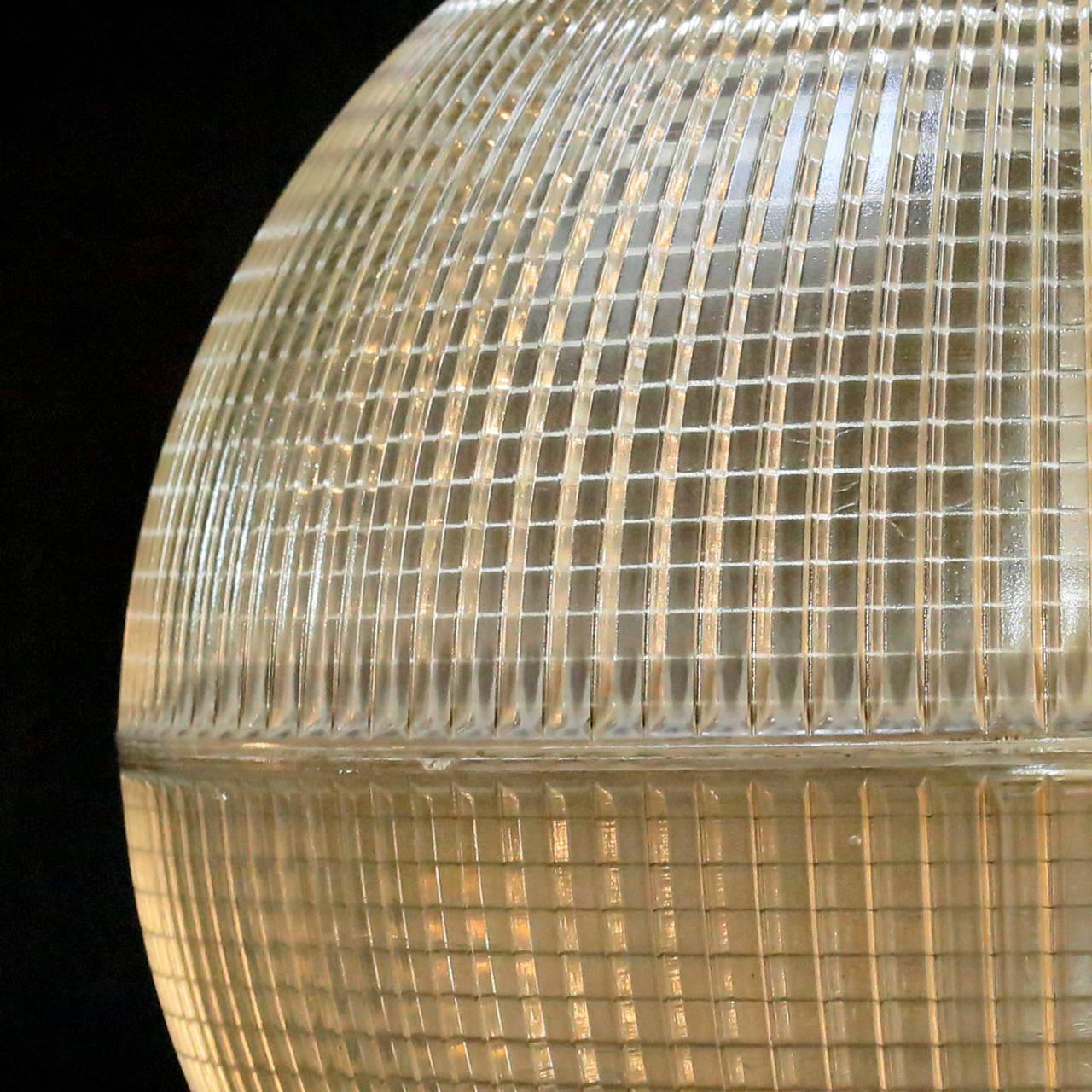 French 'Europhane' Holophane Pendant Light For Sale