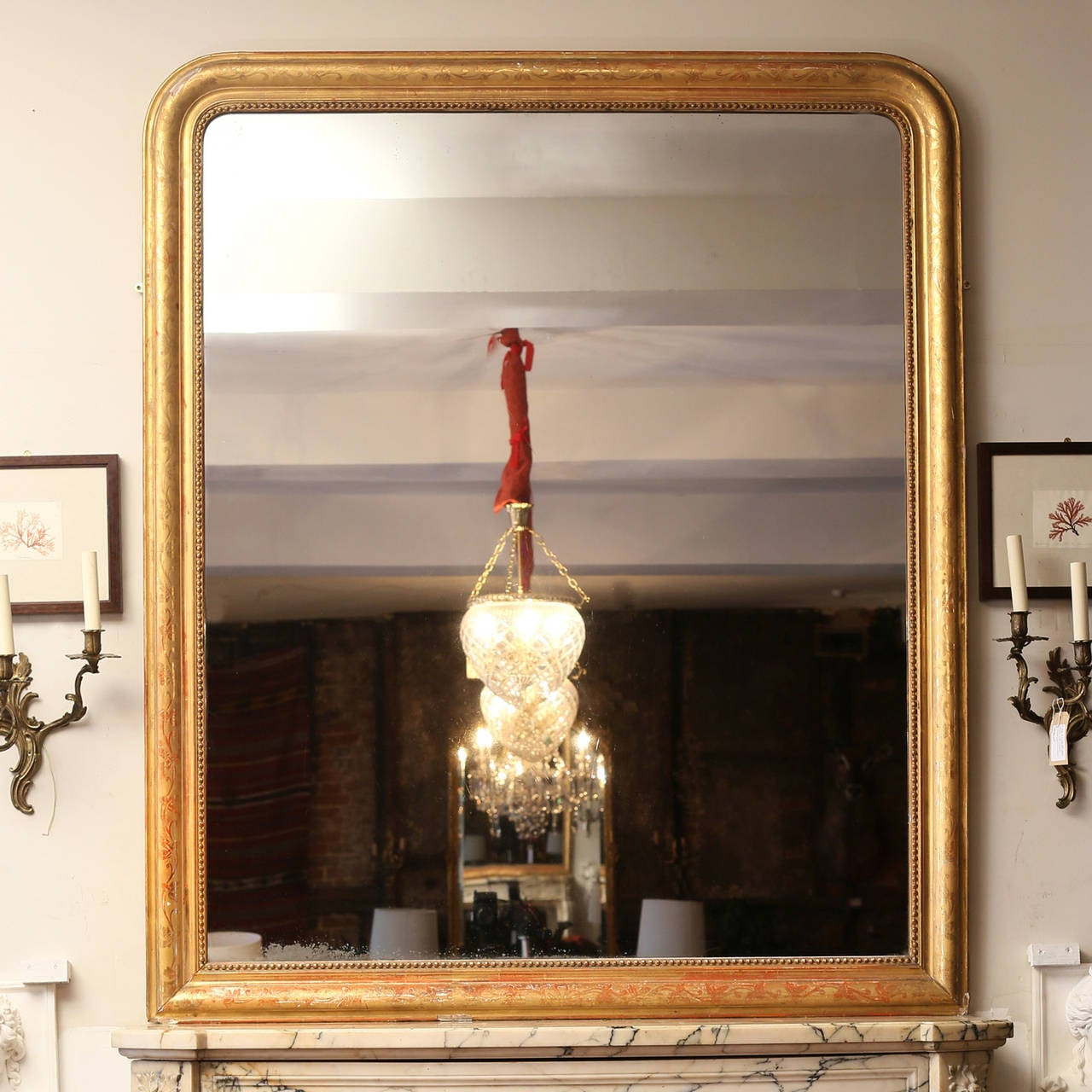 French Giltwood Overmantel Mirror At 1stdibs