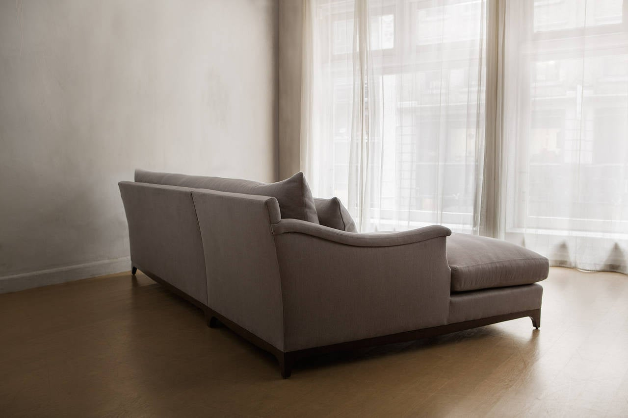Contemporary vallone serpentine chaise sectional sofa handmade by dmitriy and co for sale at - Contemporary furniture sectional and a sectional sofa ...