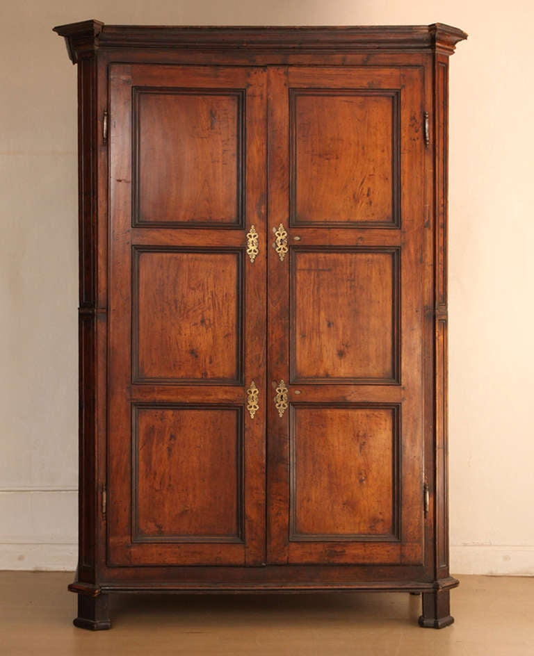 french walnut wardrobe large armoire 19th century for. Black Bedroom Furniture Sets. Home Design Ideas