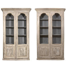 Pair of Painted 19th Century Bibliothèques