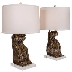 Pair of Table Lamps from 18th Century Architectural Elements