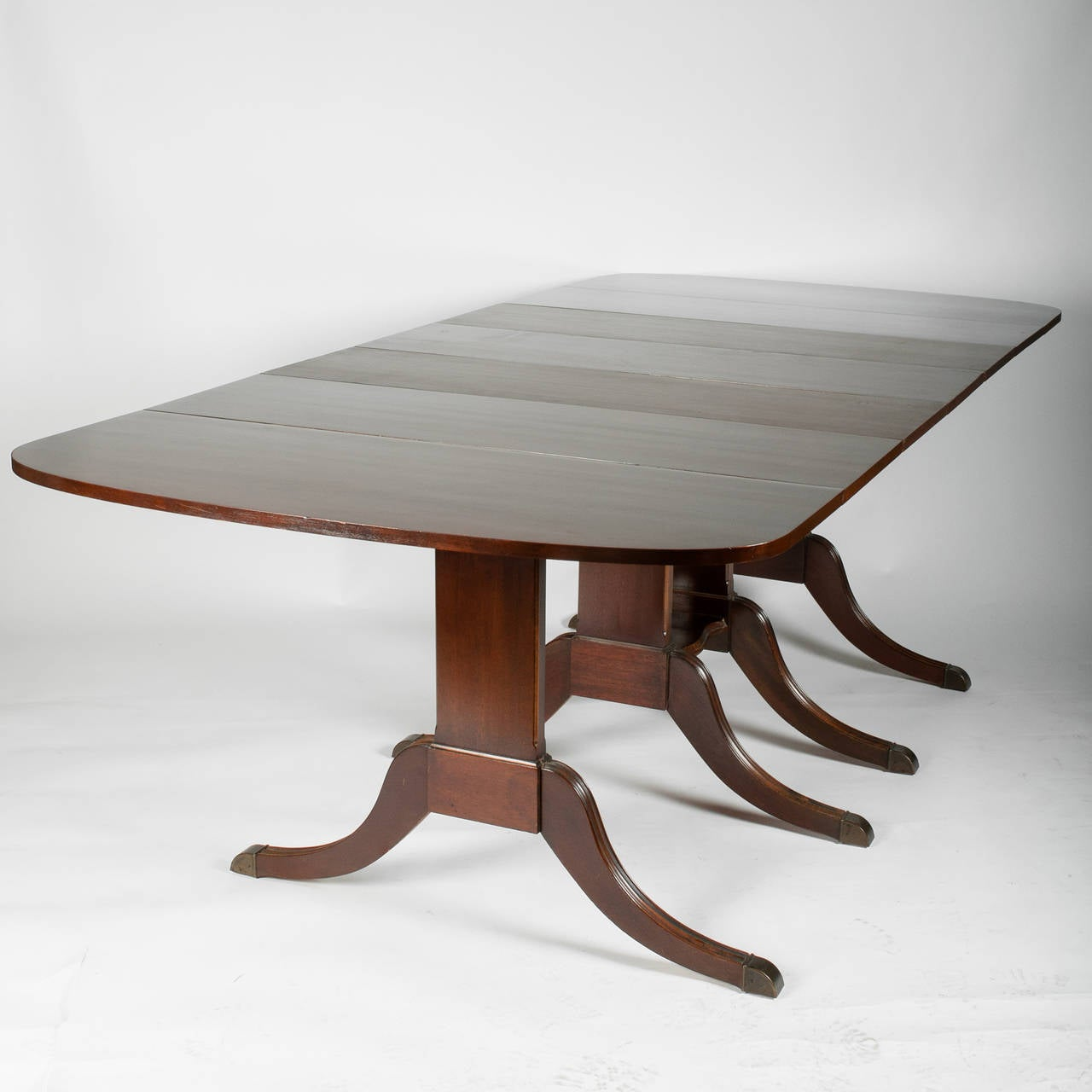 Duncan phyfe style drop leaf extension table for sale at for Drop leaf dining table