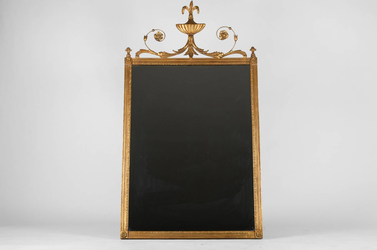 Gold gilt mirror with urn top for sale at 1stdibs for What is a gilt mirror