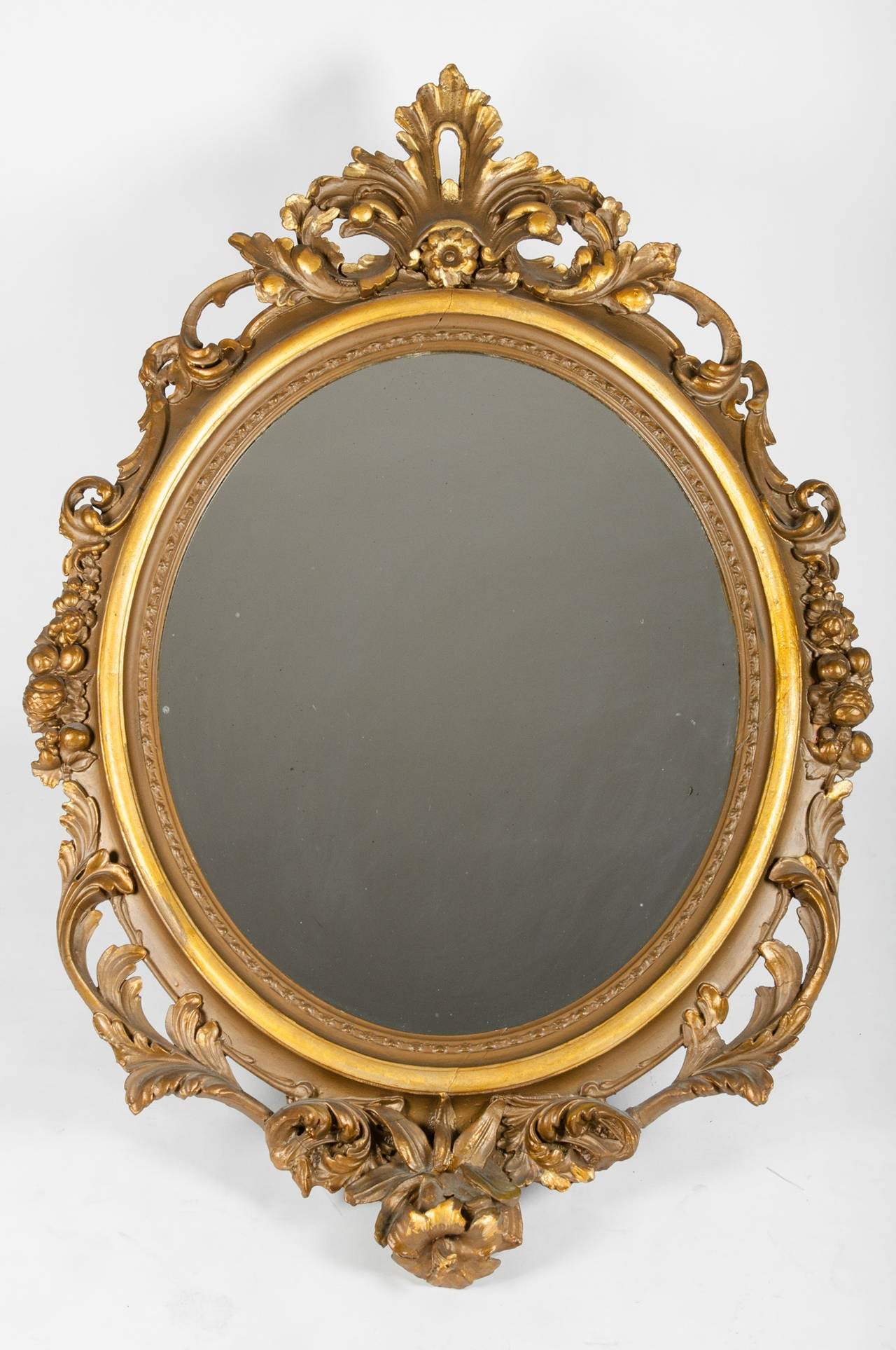 Large Gold Gilt Gesso Mirror At 1stdibs