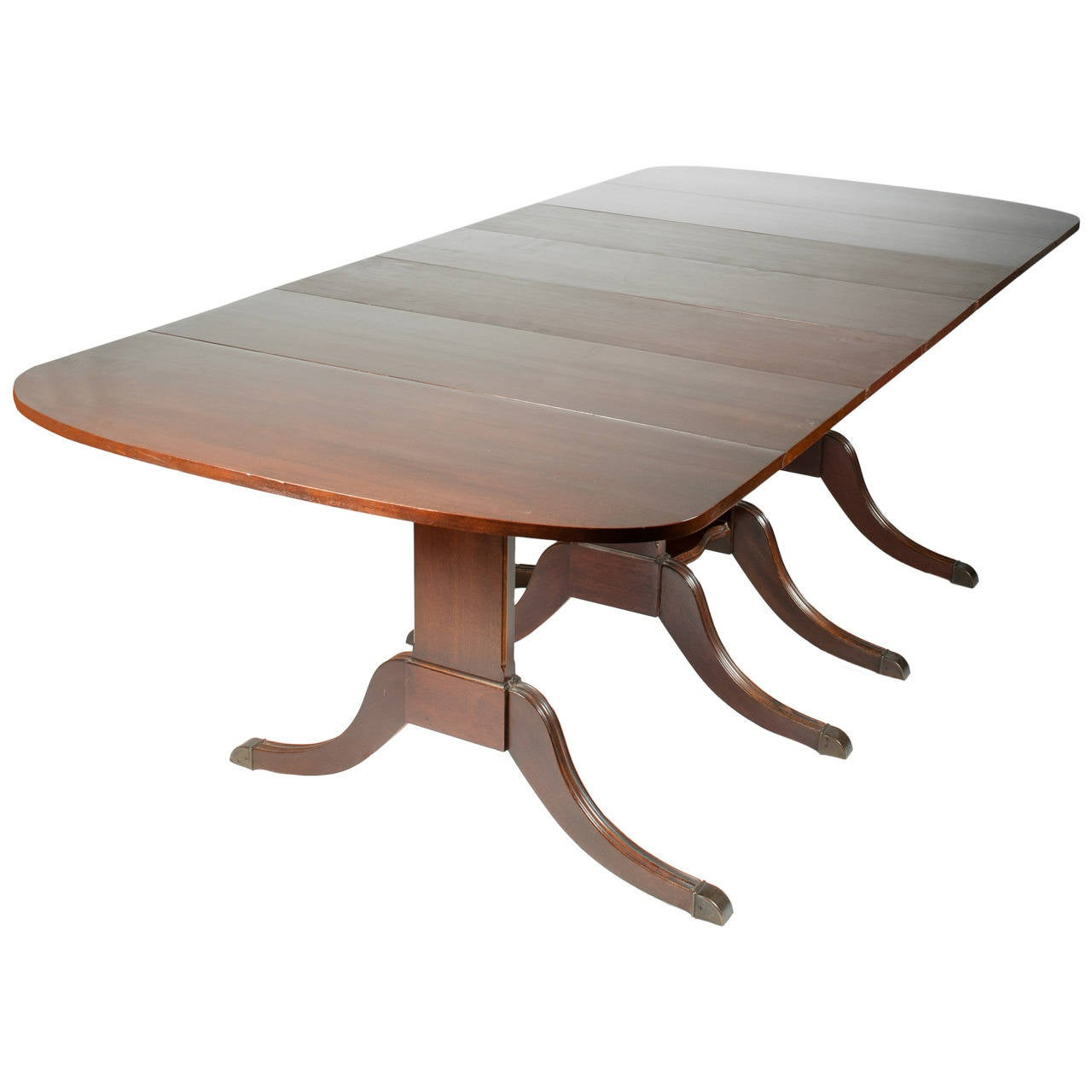 Duncan phyfe style drop leaf extension table for sale at for Dining table with leaf insert