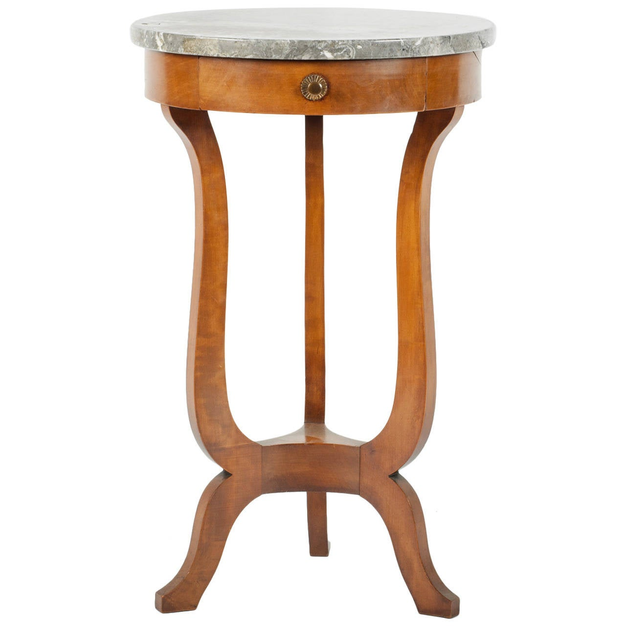 This antique french cherry side table is no longer available - Antique French Marble Top Table At 1stdibs