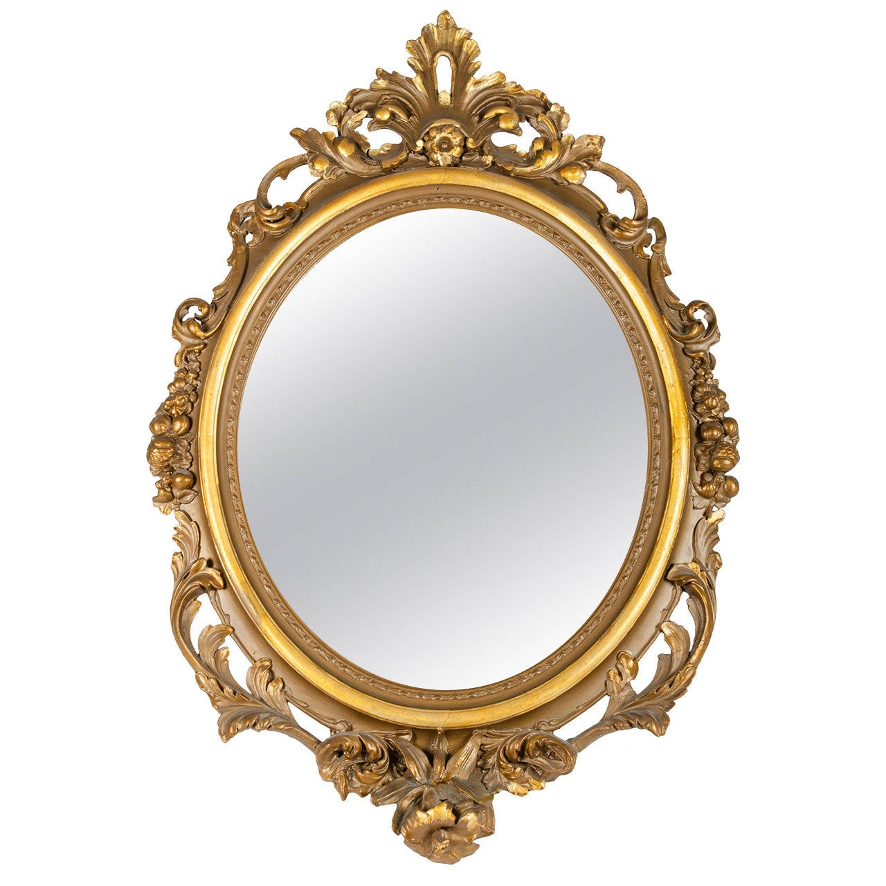 Large gold gilt gesso mirror for sale at 1stdibs for Big mirrors for sale