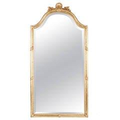 Vintage Gold Leaf Wooden Mirror