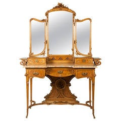 Art Nouveau Three-Piece Vanity Set