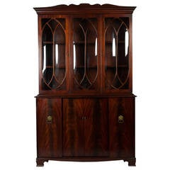 Vintage American China Closet or Hutch Cabinet