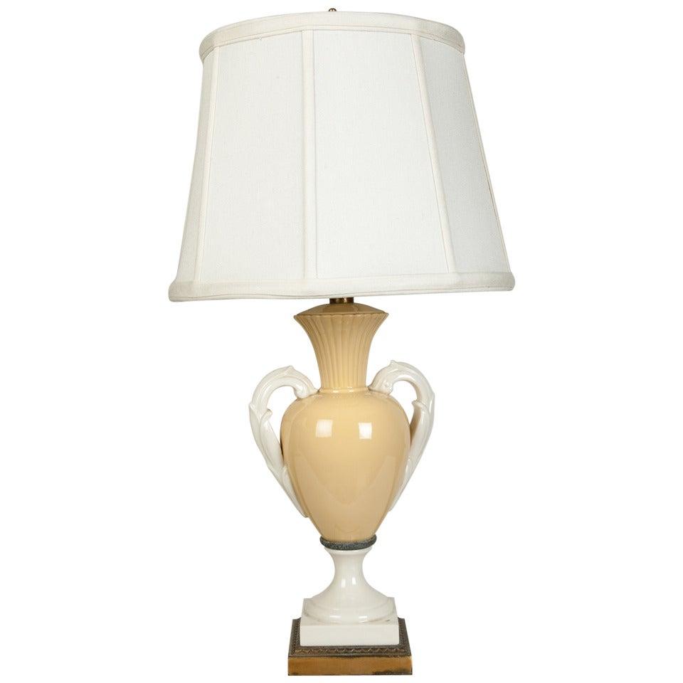 Vintage Porcelain Lamp 87