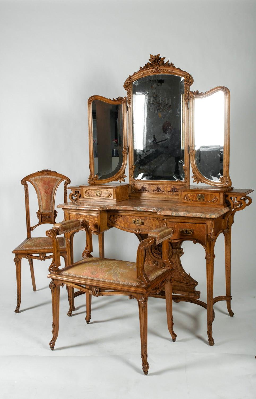 Art Nouveau Three Piece Vanity Set For Sale At 1stdibs