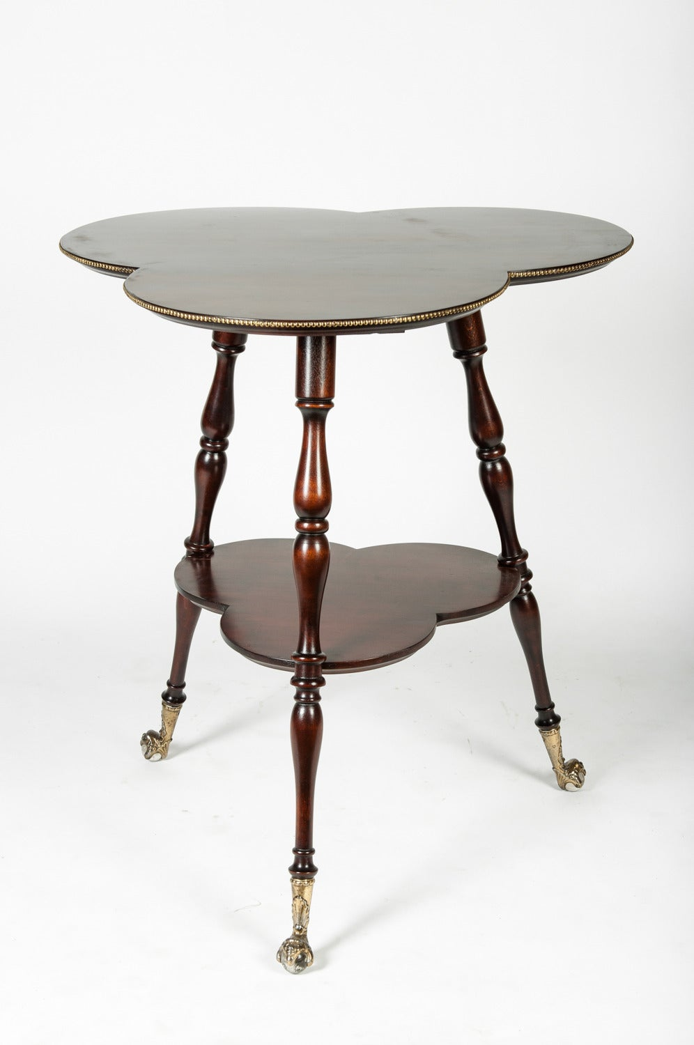 Antique English Clover Leaf Side Table At 1stdibs