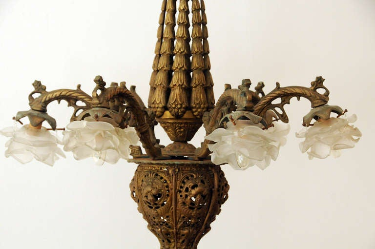 brass gothic style chandelier for sale at 1stdibs