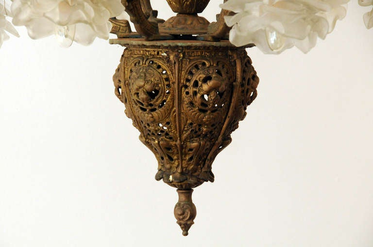 brass gothic style chandelier at 1stdibs