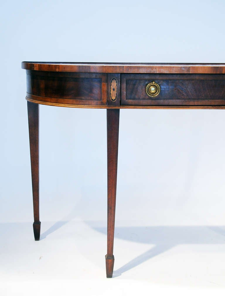 Vintage demilune console at 1stdibs for Demilune console table with drawers