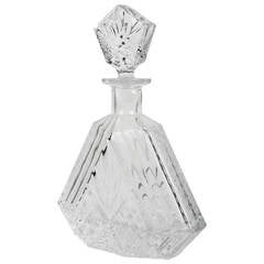 Antique Hexagonal Cut Crystal Decanter