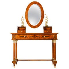 Vintage Vanity with Detachable Mirror