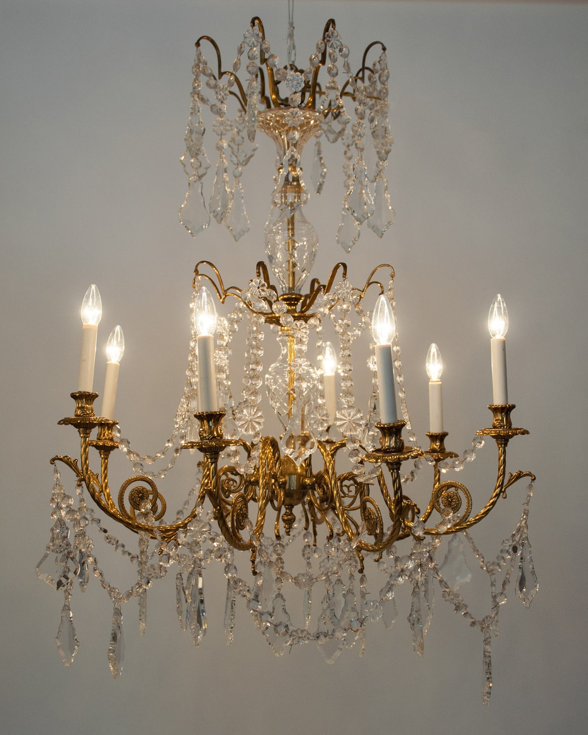 Antique French Cut Crystal Chandelier For Sale at 1stdibs