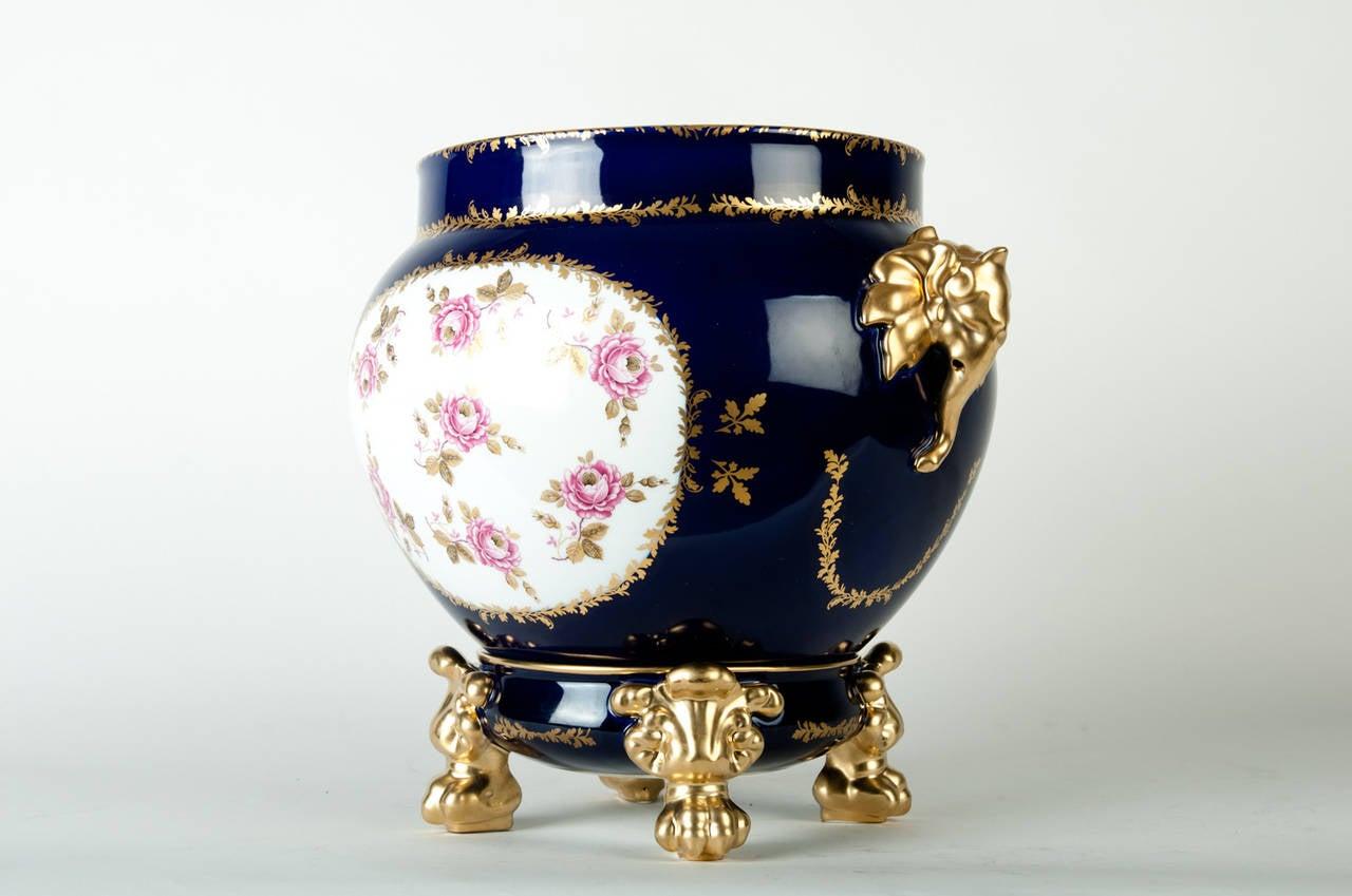 Vintage limoges france porcelain jardiniere cache pot at for Jardiniere decorative