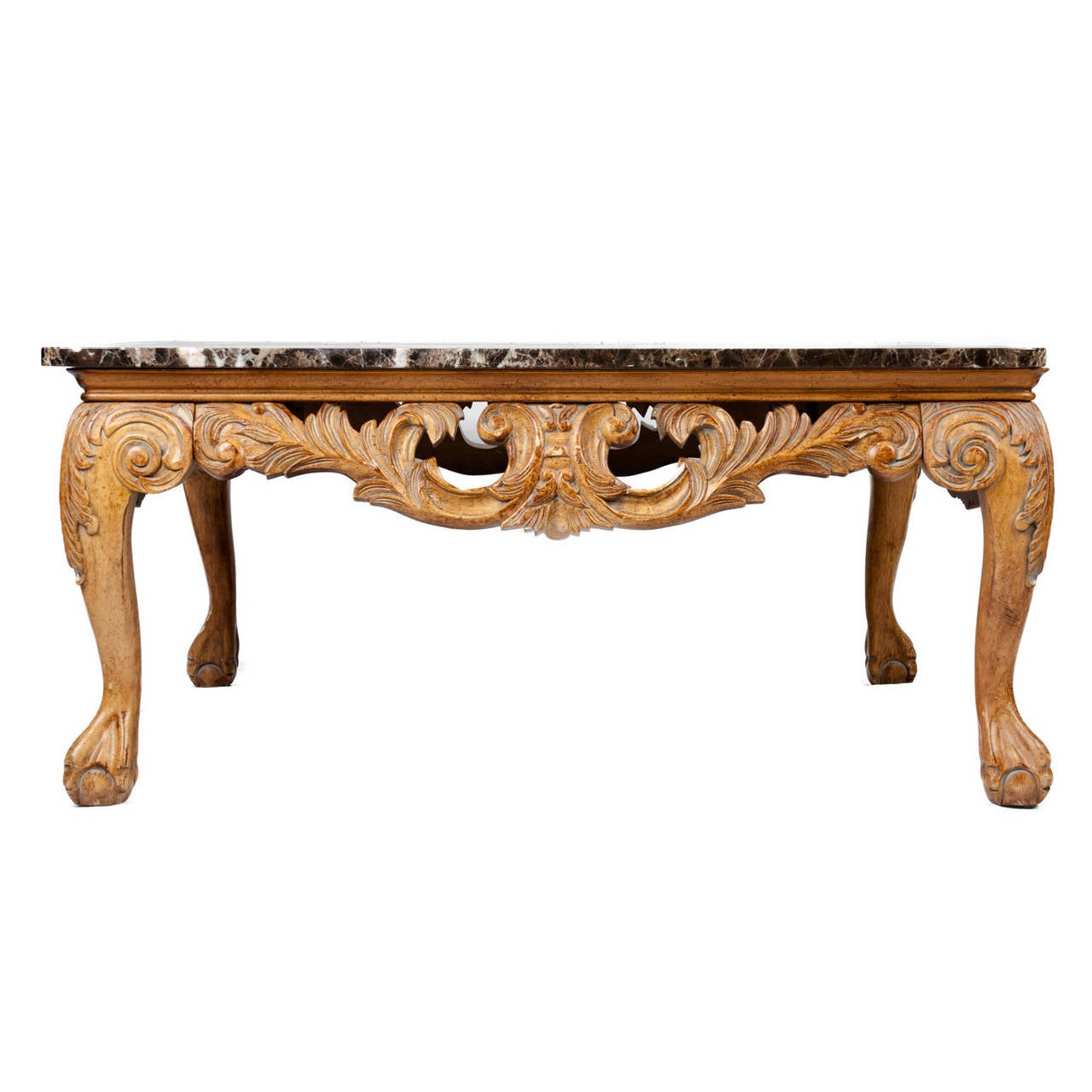 Marble Coffee Table Antique: Vintage European Marble-Top Coffee Table At 1stdibs
