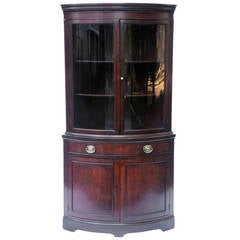 Vintage Mahogany Corner Cabinet
