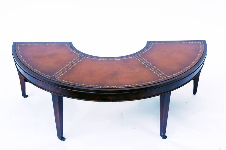 Crescent Drop-Leaf Coffee Table 2 - Crescent Drop-Leaf Coffee Table At 1stdibs