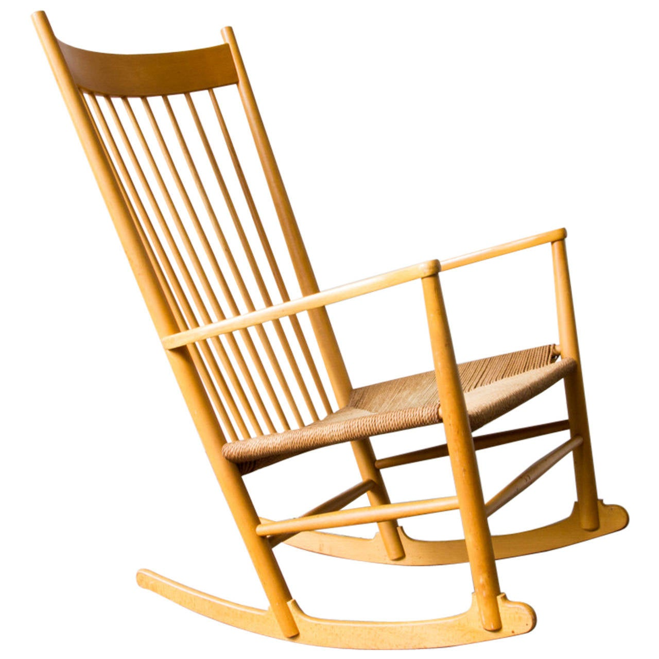 Hans Wegner J16 Rocking Chair At 1stdibs. Full resolution‎  portraiture, nominally Width 1280 Height 1280 pixels, portraiture with #C77904.