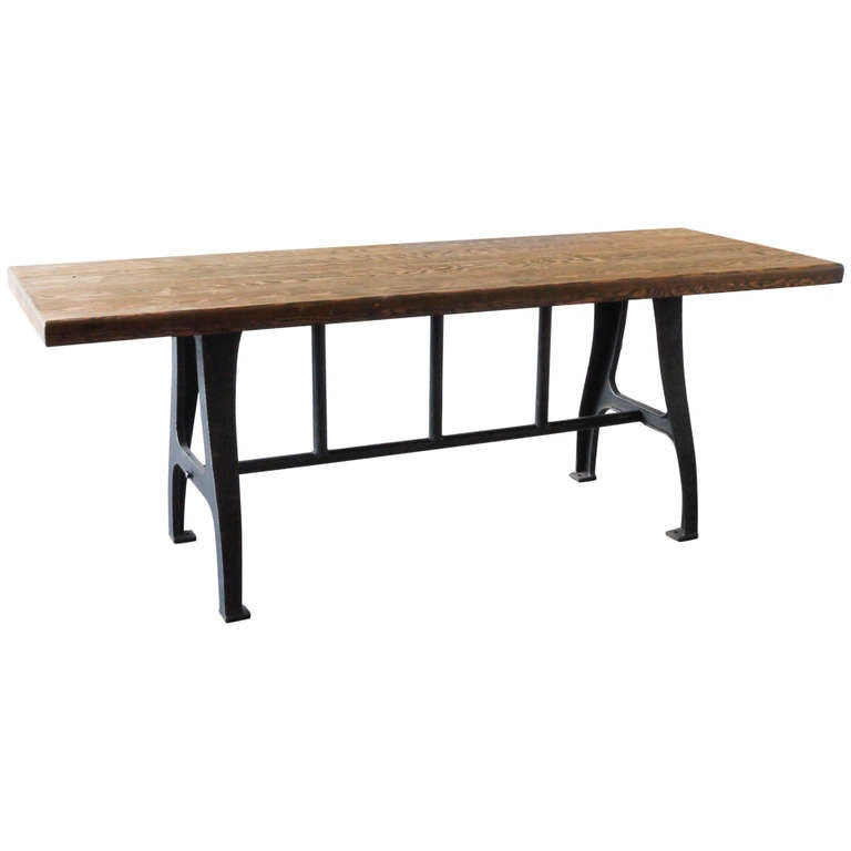 repurposed bleacher dining table at 1stdibs
