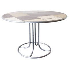 Scrap Metal Pedestal Dining Table