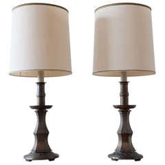 Pair of Brass Stiffel Lamps