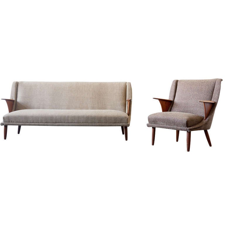 Danish Modern Sofa And Chair At 1stdibs