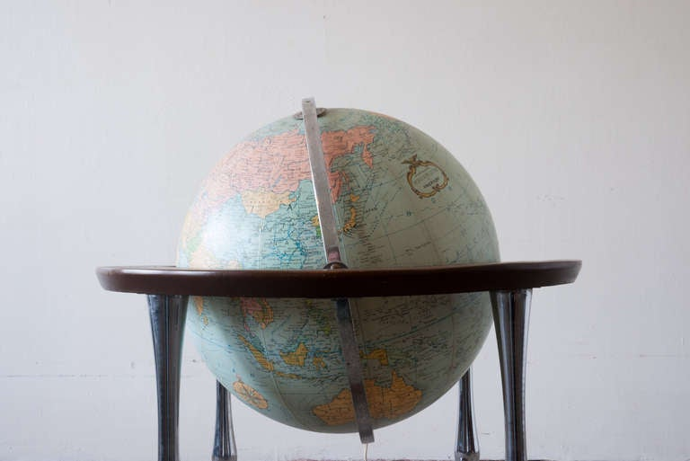 American Replogle Terrestrial Floor Globe For Sale