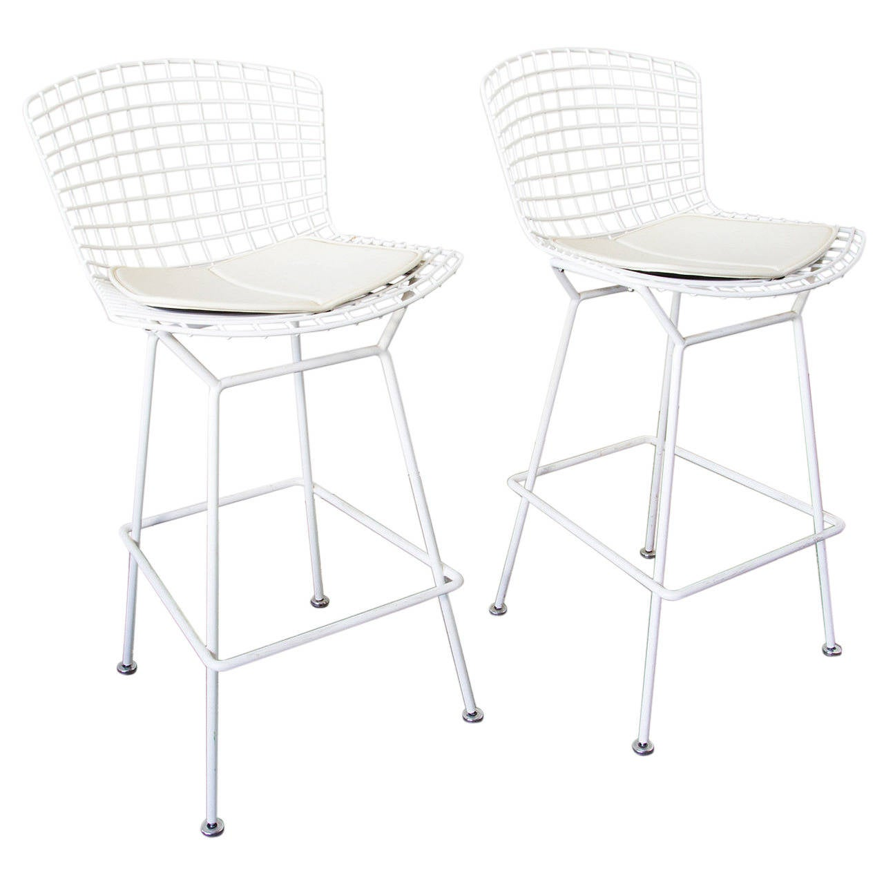 Pair of Bertoia Bar Stools 1