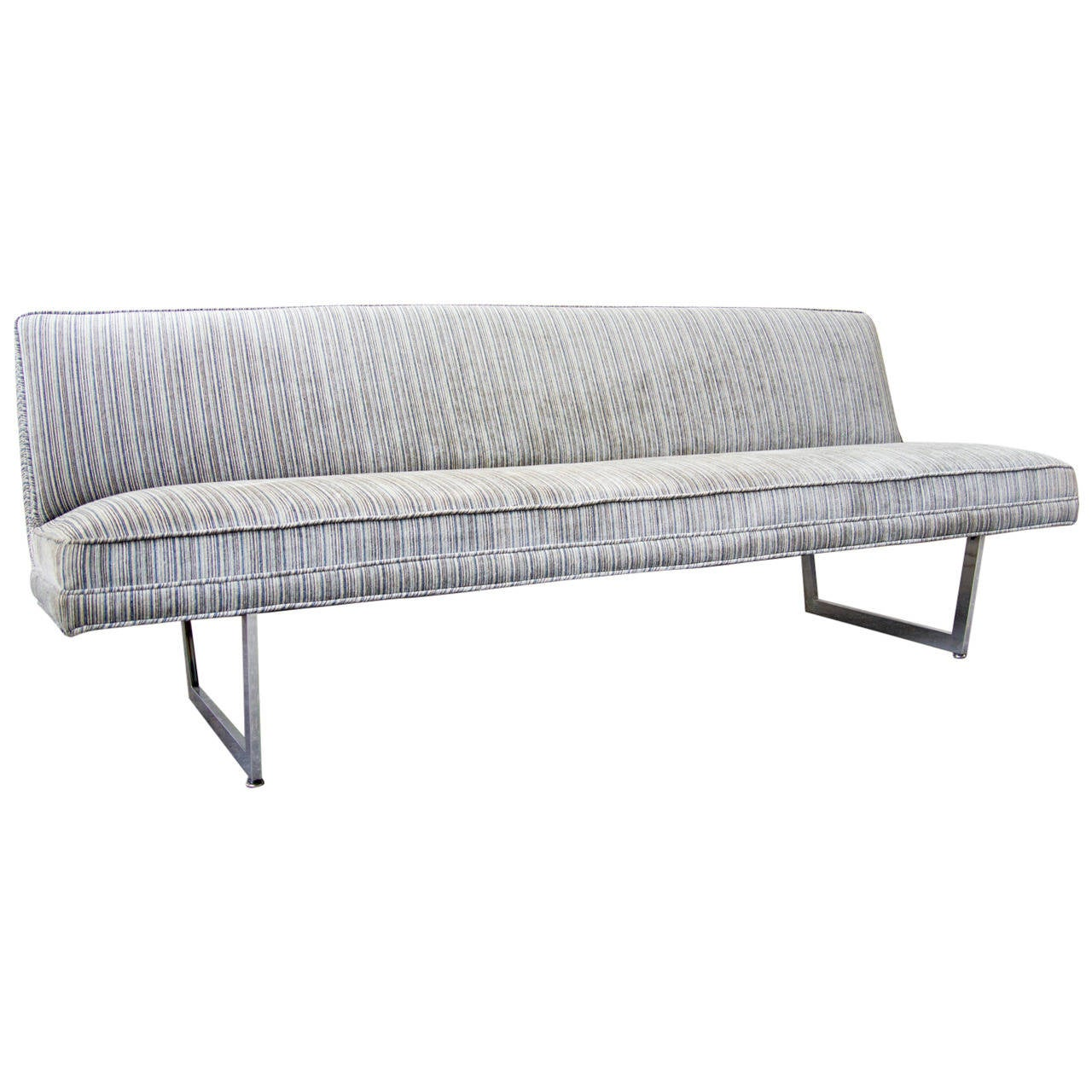 Patrician Armless Sled Sofa At 1stdibs