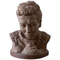 Gaetano Cecere Plaster Sculpture Wood Base #36
