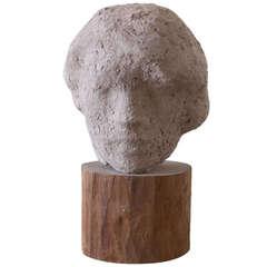 Gaetano Cecere Plaster Sculpture Wood Base #35