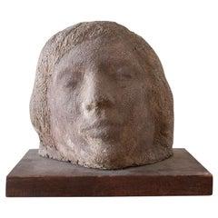 Gaetano Cecere Plaster Sculpture Wood Base #33