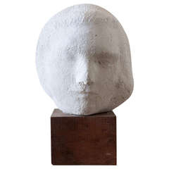 Gaetano Cecere Plaster Sculpture Wood Base #10