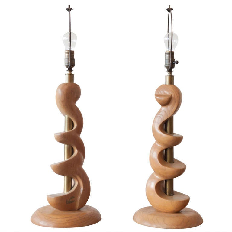 Sculpted Wooden Lamps by Light House