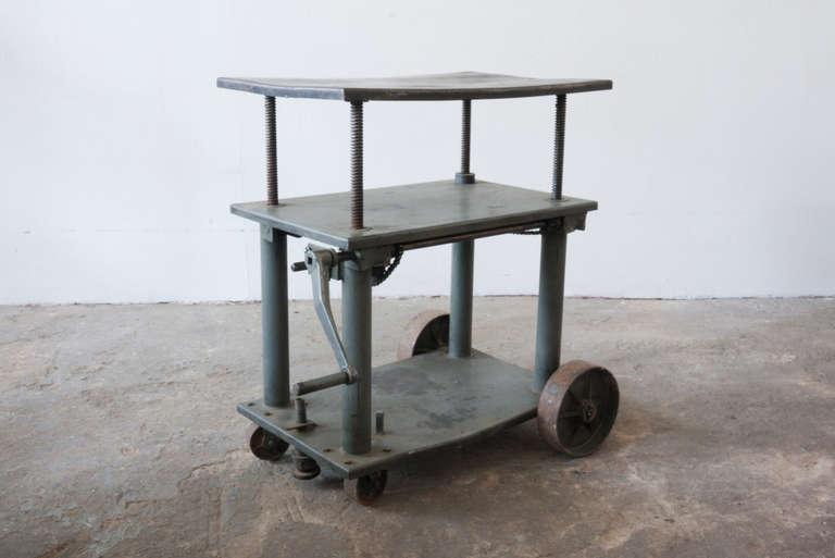 Factory Crank Cart At 1stdibs