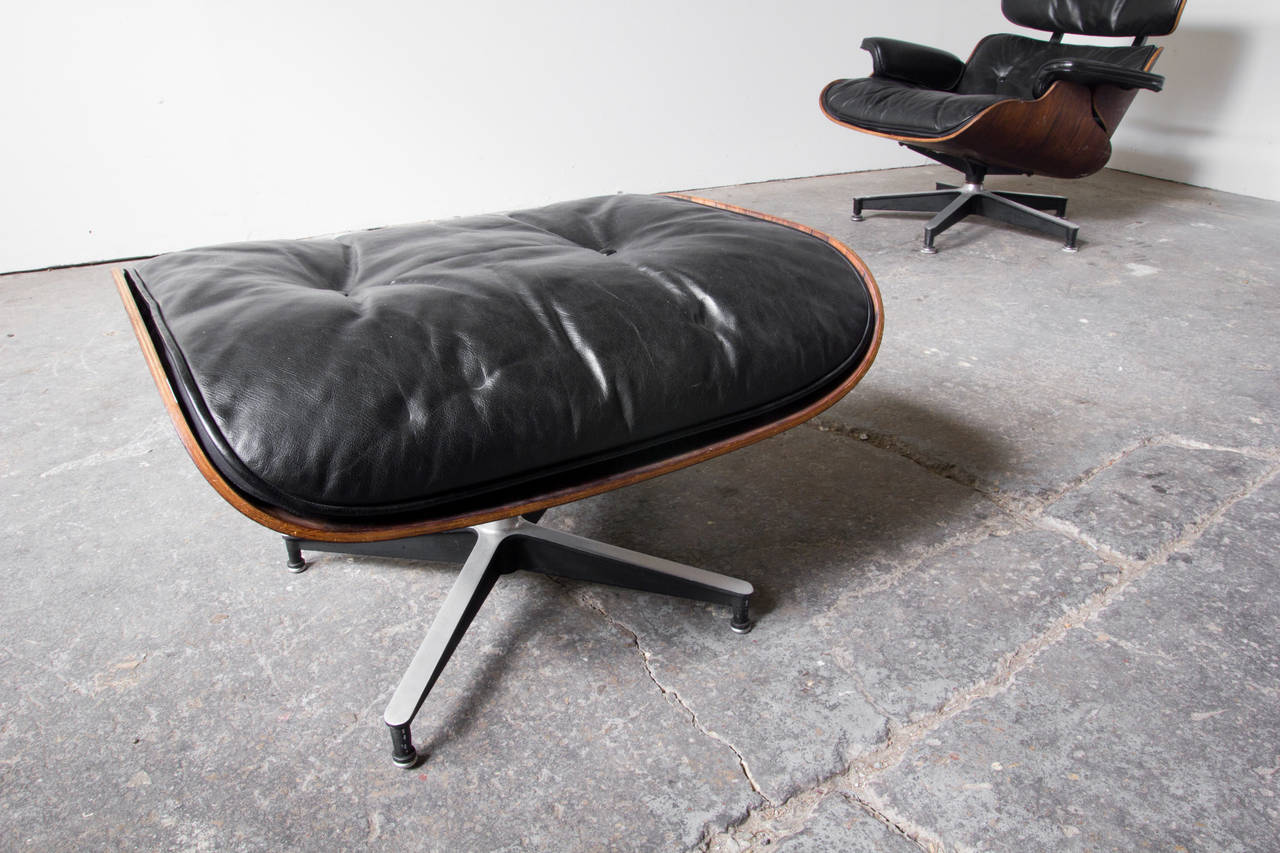 Rosewood Eames 670 Lounge Chair And 671 Footstool At 1stdibs