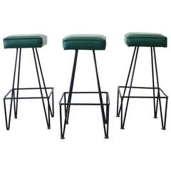 Wrought Iron Hairpin Bar Stools