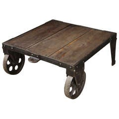 Reclaimed Peg Leg Coffee Table