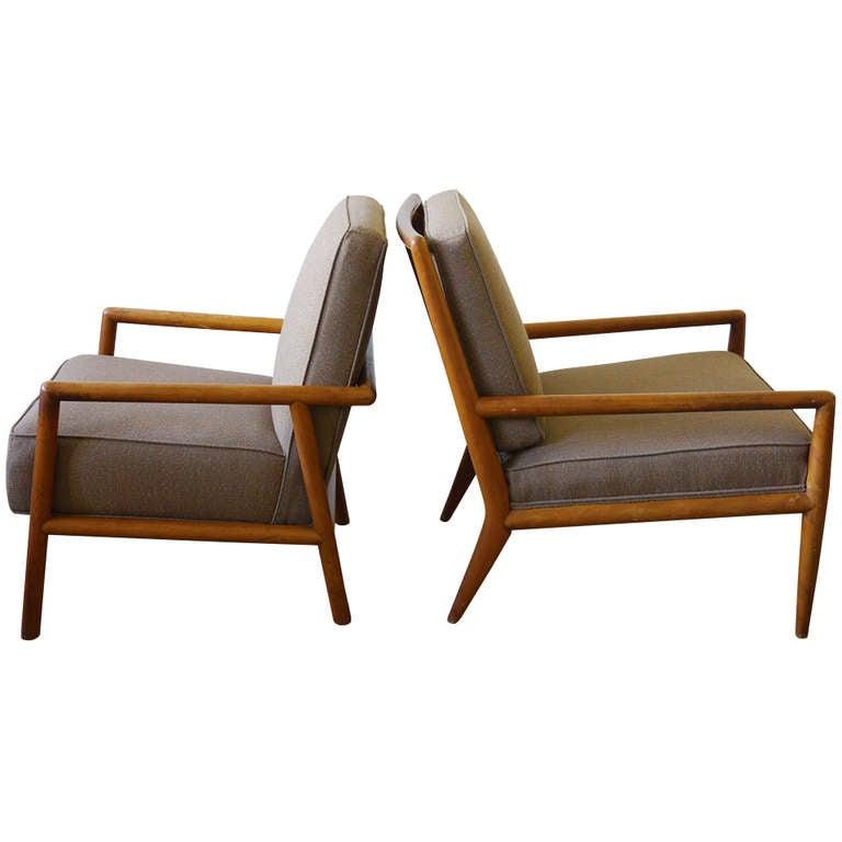 Robsjohn gibbings lounge chair set at 1stdibs