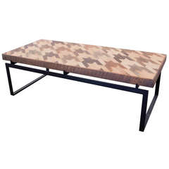 Houndstooth Oak Cocktail Table