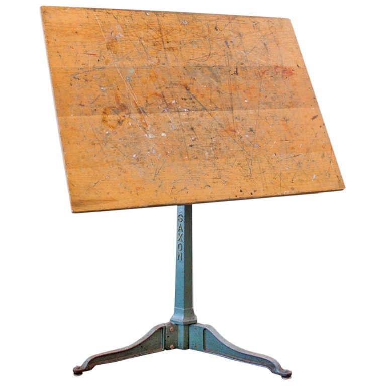 Cast Iron Saxon Drafting Table At 1stdibs