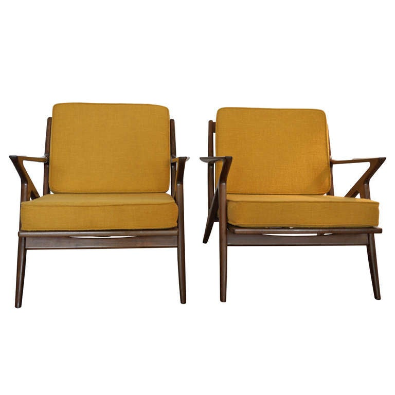 Poul jensen selig z chairs at 1stdibs - Selig z chair for sale ...