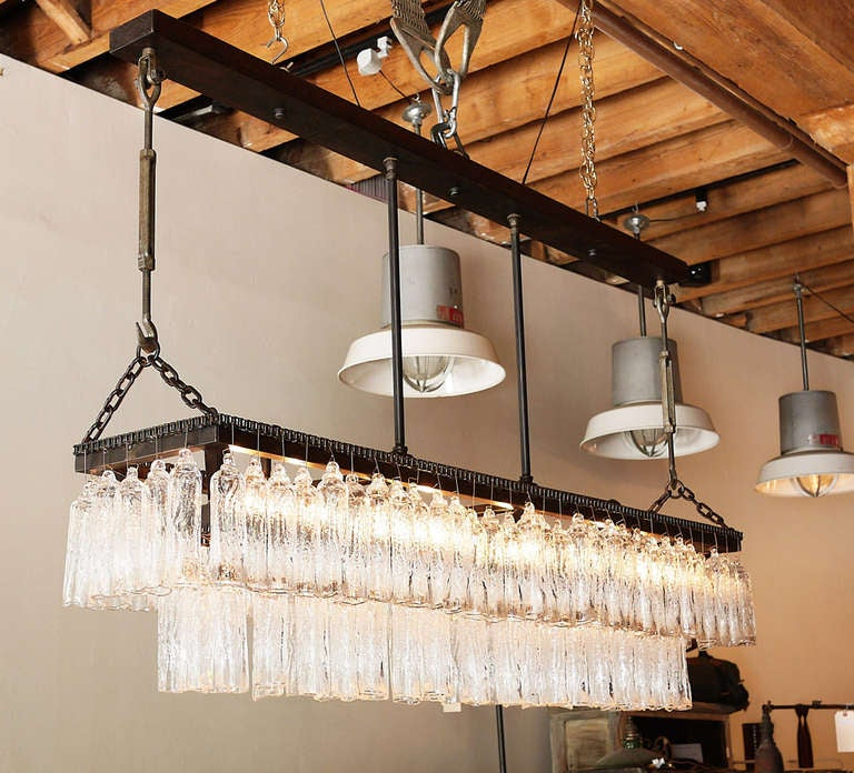 hand blown glass chandelier 3